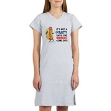 Not A Party Until Wieners Women's Nightshirt