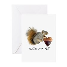 Squirrel Heart Nut Greeting Cards (Pk of 10)