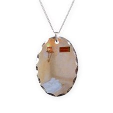 HE IS RISEN Empty Tomb Necklace Oval Charm