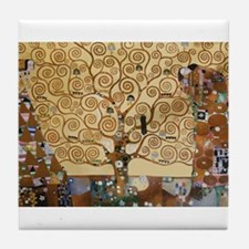 Gustav Klimt Tree Of Life Tile Coaster