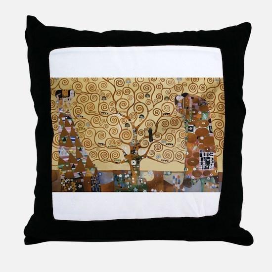 Gustav Klimt Tree Of Life Throw Pillow