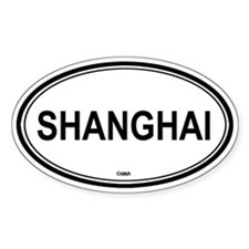 Shanghai, China euro Oval Bumper Stickers