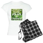 """Give Peas a Chance"" Women's Light Pajamas"