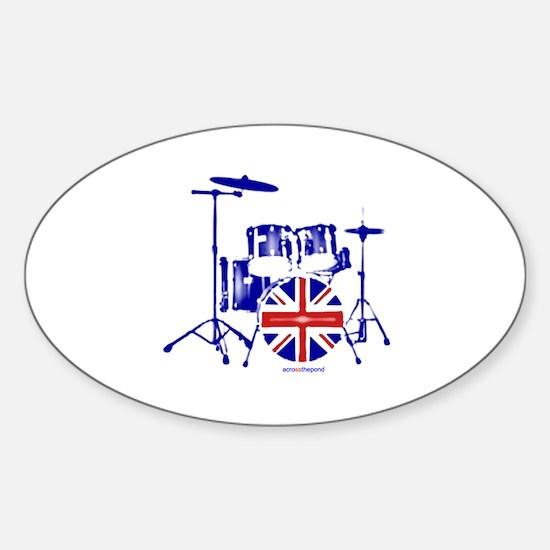British drum kit... Sticker (Oval)