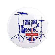 """British drum kit... 3.5"""" Button"""