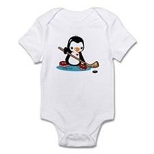 Ice Hockey Penguin Infant Bodysuit