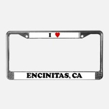 I Love Encinitas License Plate Frame