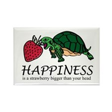 Happiness is (Strawberry) Rectangle Magnet