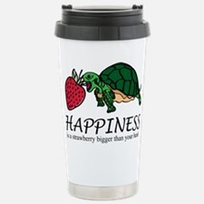 Happiness is (Strawberry) Stainless Steel Travel M