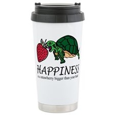 Happiness is (Strawberry) Travel Mug