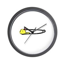 Diaper Pin Wall Clock