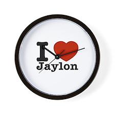 I love Jaylin Wall Clock
