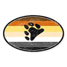 Vintage Bear Pride Oval Decal