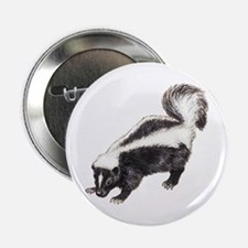"""Skunk drawing 2.25"""" Button"""