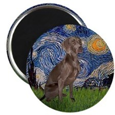 Starry / Weimaraner Magnet