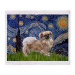 Starry / Tibetan Spaniel Throw Blanket