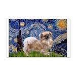 Starry / Tibetan Spaniel 20x12 Wall Decal