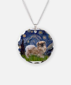 Starry / Tibetan Spaniel Necklace