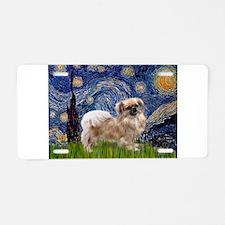 Starry / Tibetan Spaniel Aluminum License Plate