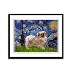 Starry / Tibetan Spaniel Framed Panel Print