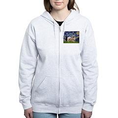 Starry / Tibetan Spaniel Zip Hoodie