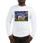 Starry / Tibetan Spaniel Long Sleeve T-Shirt