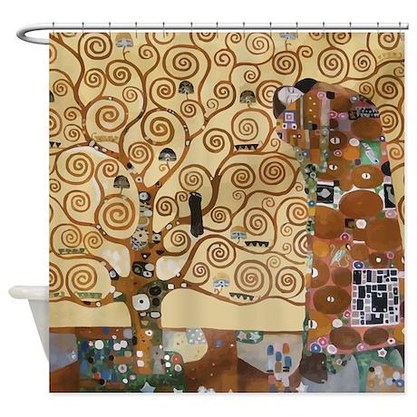 Gustav Klimt Tree Of Life Shower Curtain - Gustav Klimt Tree Of Life Shower Curtain By Iloveyou1