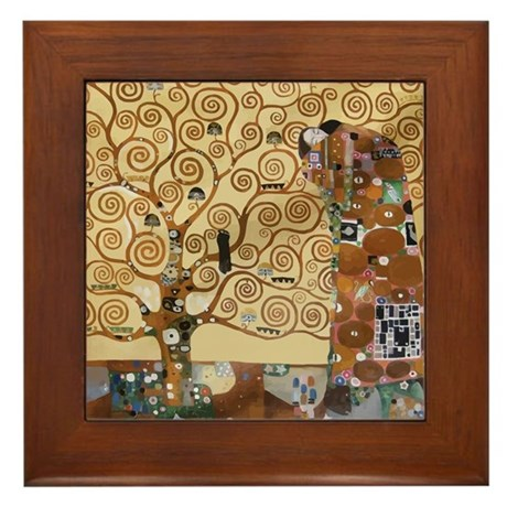 Gustav Klimt Tree Of Life Framed Tile