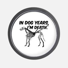 In Dog Years I'm Death Wall Clock