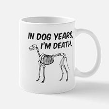 In Dog Years I'm Death Mug