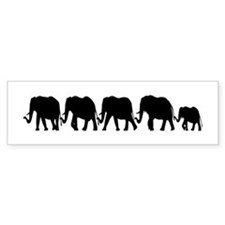 Elephant Train Bumper Bumper Sticker