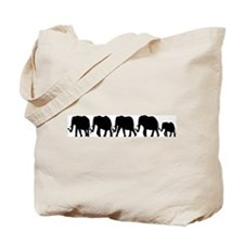 Elephant Train Tote Bag