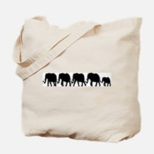 Elephant Train Tote Bag