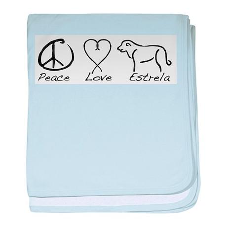 Peace Love Estrela baby blanket