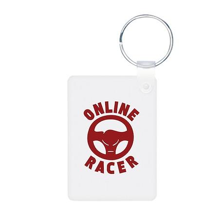 Online Racer Aluminum Photo Keychain
