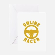 Online Racer Greeting Card