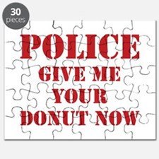 Police give me your donut now Puzzle