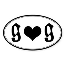 Girl Loves Girl Euro Oval Decal