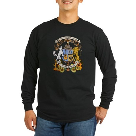 Kaniac Crest English Motto Long Sleeve Dark T-Shir