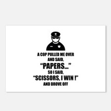 A cop pulled me over ... Postcards (Package of 8)