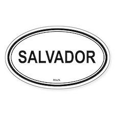Salvador, Brazil euro Oval Decal