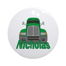 Trucker Nicholas Ornament (Round)