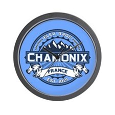 Chamonix Blue Wall Clock