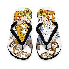 Kaniac Crest English Motto Flip Flops