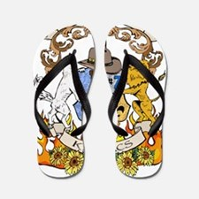 Kaniac Crest English Motto Flip Flops