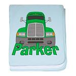 Trucker Parker baby blanket