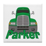 Trucker Parker Tile Coaster