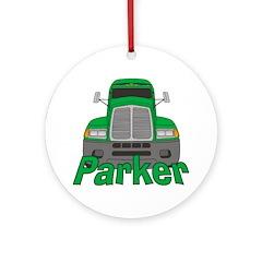 Trucker Parker Ornament (Round)