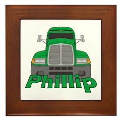 Trucker Phillip Framed Tile