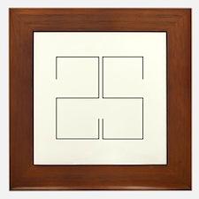 25 Black Lines Framed Tile